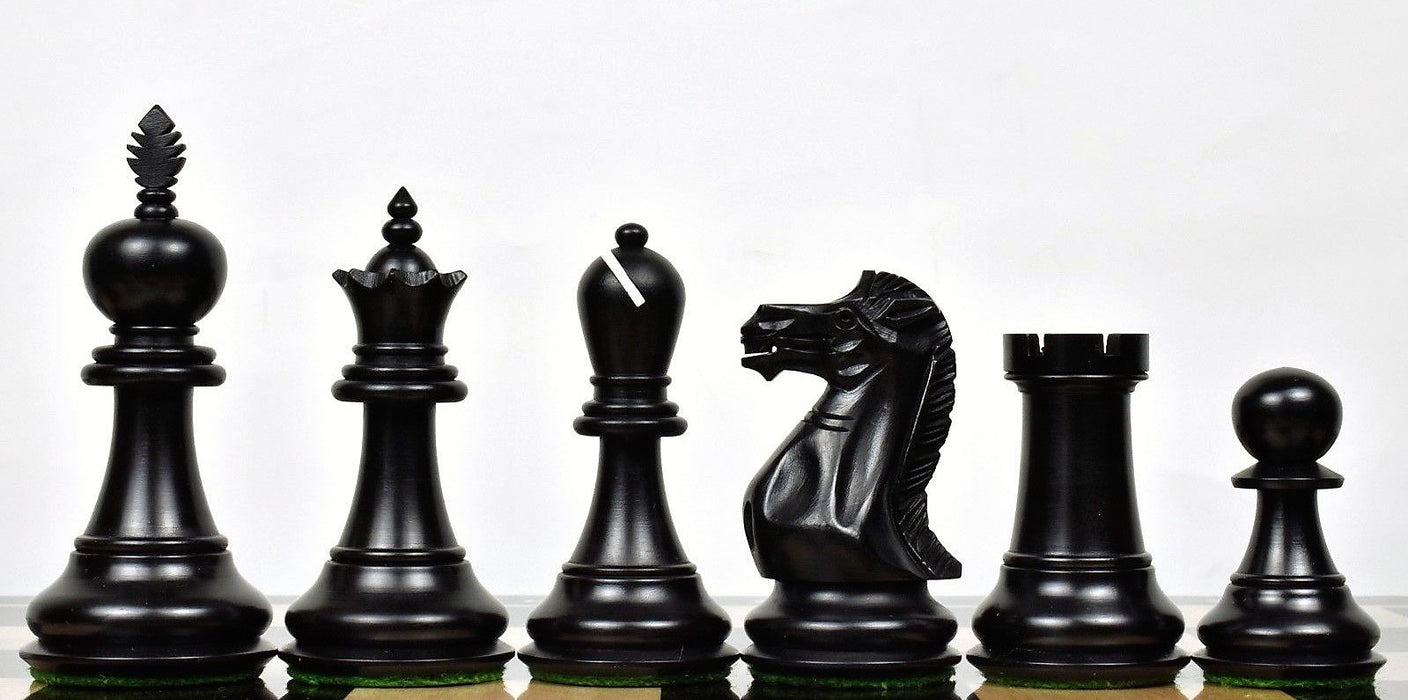 4.2 Inch Executive Elite Boxwood & Ebonised Chess Pieces - Official Staunton™