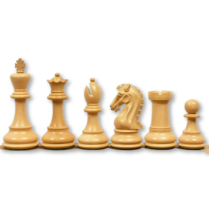 Clydesdale Acacia and Boxwood Chess Pieces - Official Staunton™
