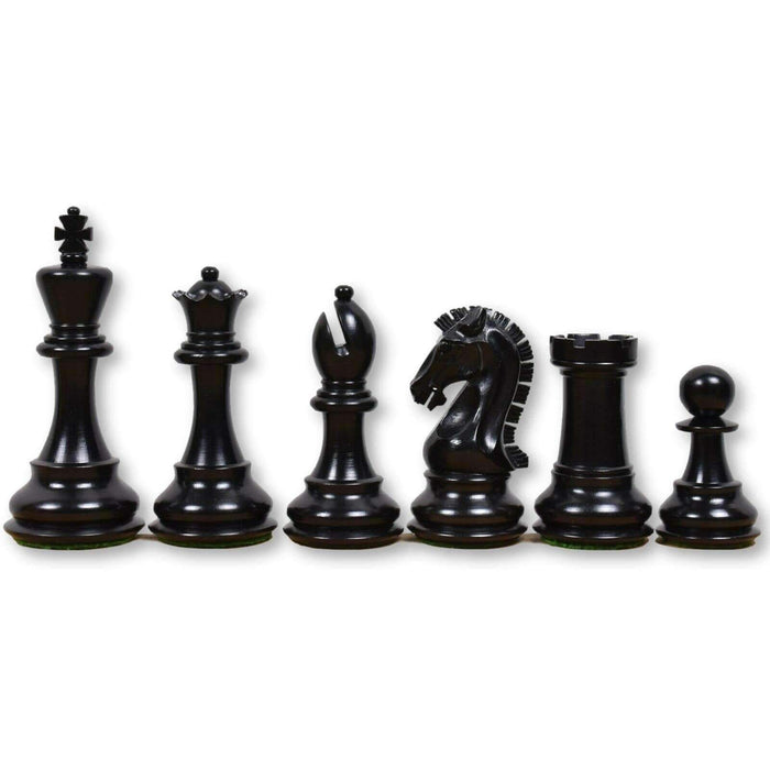 3.9 Inch Clydesdale Ebony and Boxwood Chess Pieces - Official Staunton™