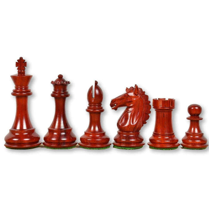 3.9 Inch Alban Series Rosebud and Boxwood Chess Pieces - Chess Set