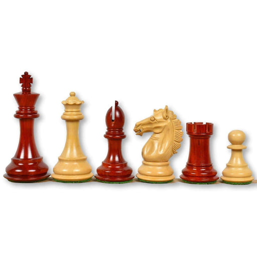 3.9 Inch Alban Series Rosebud and Boxwood Chess Pieces - Official Staunton™