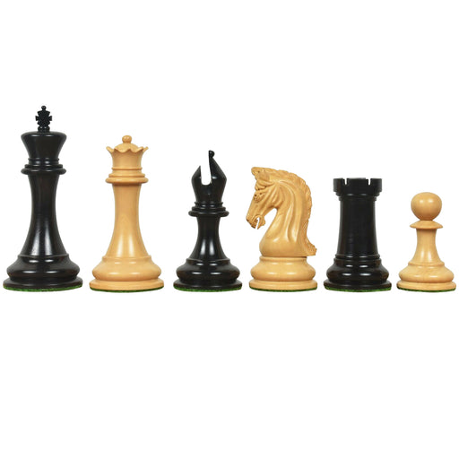 "3.9"" Imperial Series Natural Ebony and Boxwood Chess Pieces - Official Staunton™"