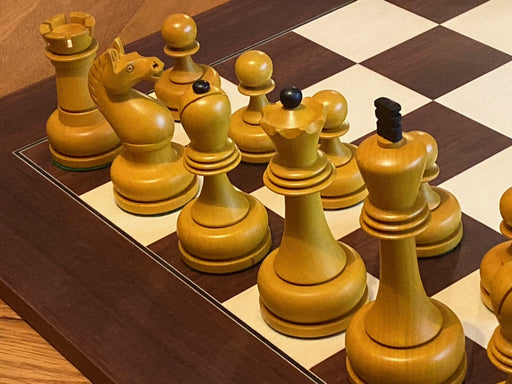 Antique Tal Chess Set & Montgoy Palisander Chessboard - Official Staunton™