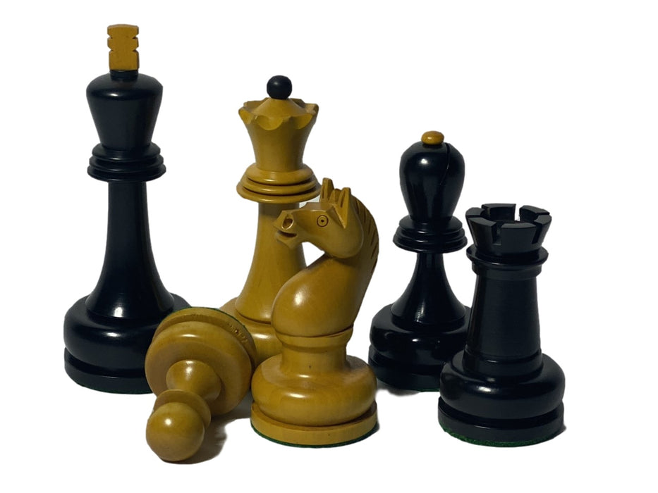 Mikhail Tal 1961 Antique & Black Chess Set