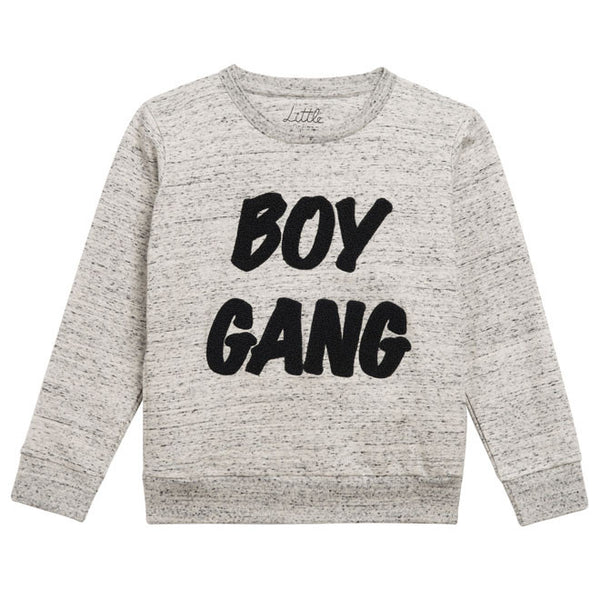 Little Eleven Paris - Grey 'Boy Gang' Sweatshirt-T-Shirt-Sweet Peas Kidswear
