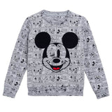 Little Eleven Paris - Grey 'Mickey' Sweatshirt-Jumper-Sweet Peas Kidswear