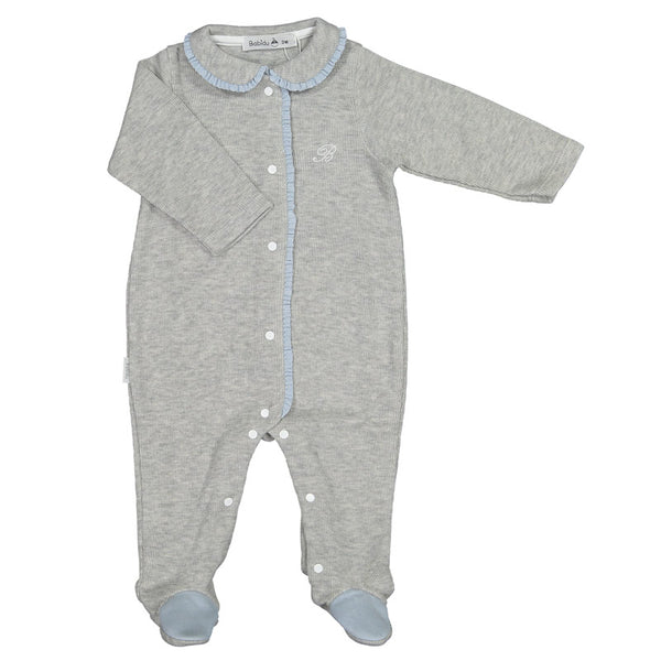 Babidu - Baby Boys Grey Cotton Babygrow-Outfit Set-Sweet Peas Kidswear