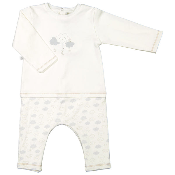 Absorba - Unisex Layered Look Babygrow-Outfit Set-Sweet Peas Kidswear
