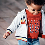 Levi's - Baby Boys Red, 'Levi's Jeans USA' T-Shirt-T-Shirt-Sweet Peas Kidswear