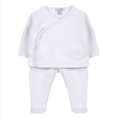 Absorba - Unisex Babies White 2 Piece Outfit Set-Outfit Set-Sweet Peas Kidswear