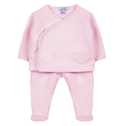 Absorba - Baby Girls Pink 2 Piece Outfit Set-Outfit Set-Sweet Peas Kidswear