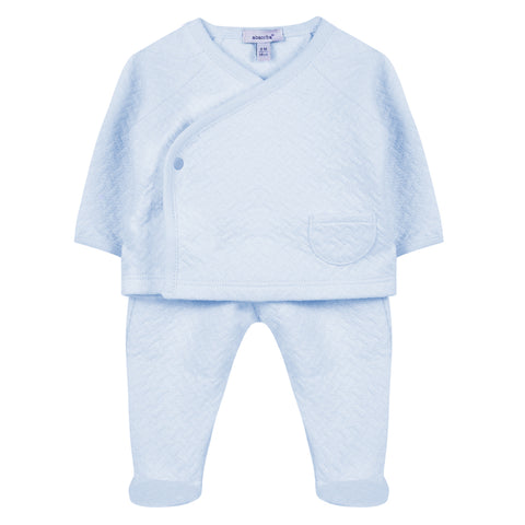Absorba - Boys Baby Blue 2 Piece Outfit Set-Outfit Set-Sweet Peas Kidswear