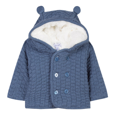 Absorba - Baby Boys Knitted Hooded Coat-Coat-Sweet Peas Kidswear