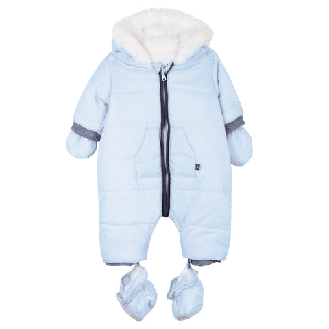 Absorba - Light Blue Padded Snowsuit with hood-Pramsuit-Sweet Peas Kidswear