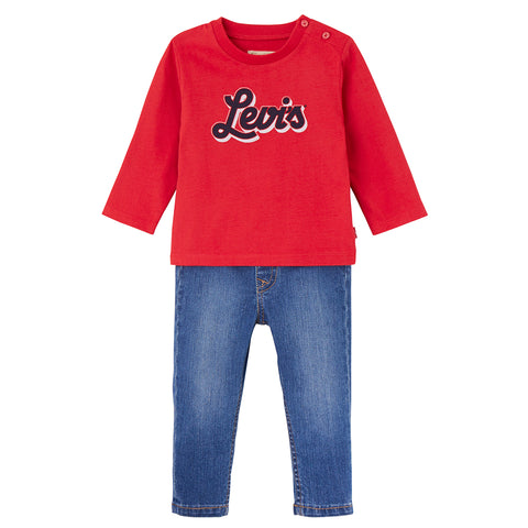 Levi's - Red Top & Blue Jeans Gift Set-Outfit Set-Sweet Peas Kidswear