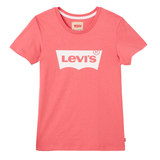 Levi's -  Pink Short Sleeves Batwing Logo T-shirt