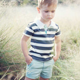 Love Henry - Bruce Polo Shirt - Navy / White-Top-Sweet Peas Kidswear