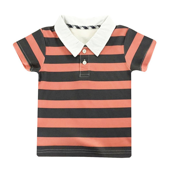 Love Henry - Bruce Polo Shirt - Navy / Red-Top-Sweet Peas Kidswear