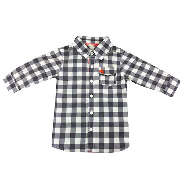 Love Henry - Hunter Check shirt, Navy-Top-Sweet Peas Kidswear