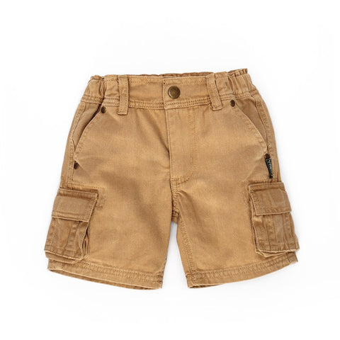 Love Henry - Classic Combat Short - Fawn-Shorts-Sweet Peas Kidswear