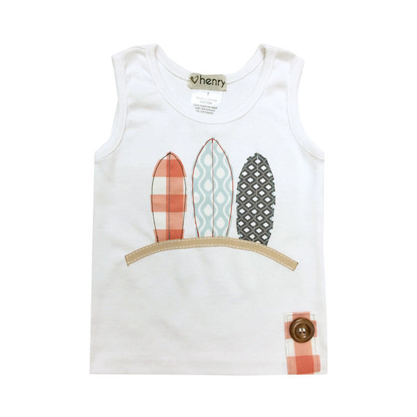 Love Henry - Surfboards Vest-Top-Sweet Peas Kidswear