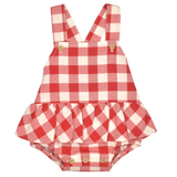 Babidu SS19 - Baby Girls Red Check Cotton Shortie