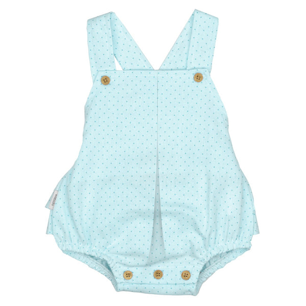 Babidu SS19 - Baby Girls Turquoise Blue Shortie Playsuit