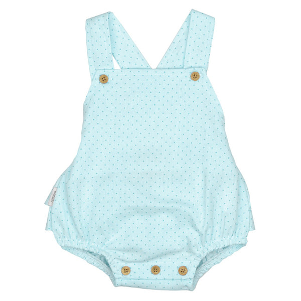 Babidu SS19 - Baby Boys Turquoise Blue Shortie Playsuit