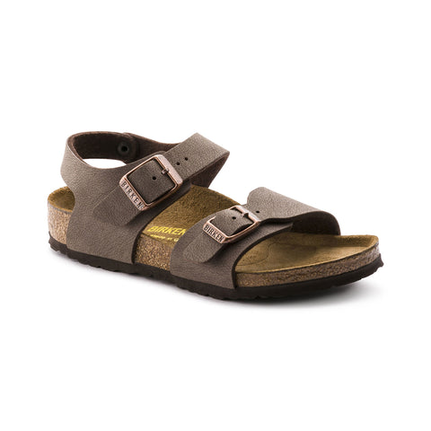 Birkenstock SS19 - New York Kids Nubuck Mocha Sandals