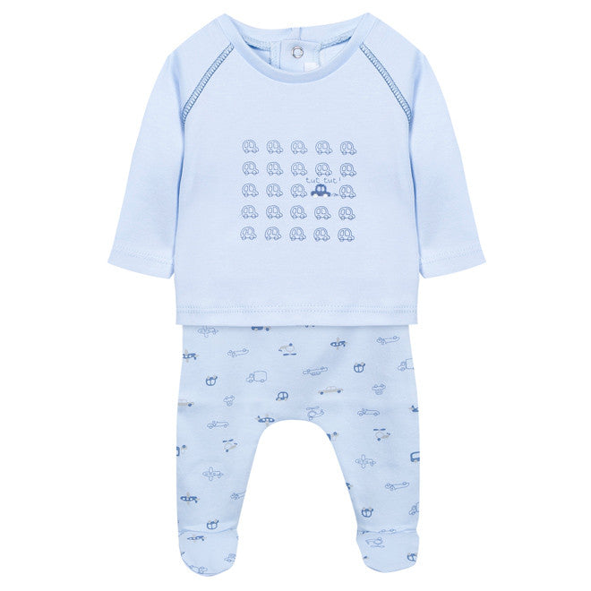 631f4db216e7f Absorba - Baby Boys Cars   Planes Blue 2 Piece Outfit Set-Outfit Set-