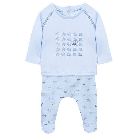 Absorba - Baby Boys Cars & Planes Blue 2 Piece Outfit Set-Outfit Set-Sweet Peas Kidswear