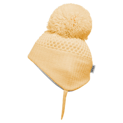 Satila of Sweden - Alvin Yellow Knitted Big Pom Hat-Hat-Sweet Peas Kidswear