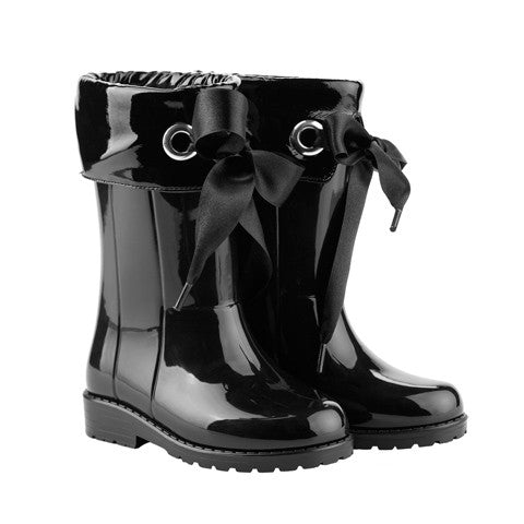 igor - Black Bow Wellies-Shoes-Sweet Peas Kidswear
