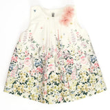 Mebi - Floral Dress with Flower Detail-Dress-Sweet Peas Kidswear