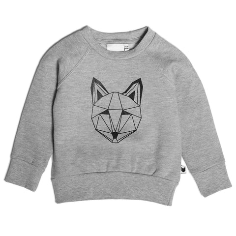 Tobias & The Bear - Just Call Me Fox Sweatshirt (Grey)-Jumper-Sweet Peas Kidswear