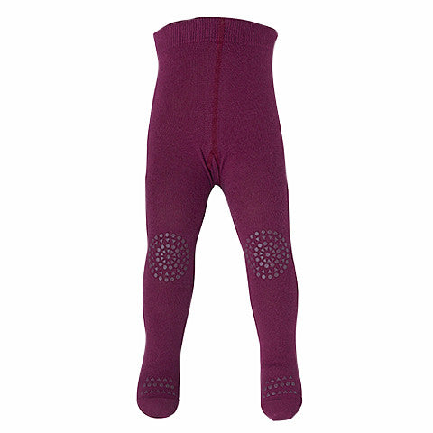 GoBabyGo - Baby Girls Plum Crawling Tights-Tights-Sweet Peas Kidswear
