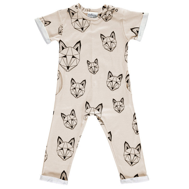 ef486835c22a Tobias   The Bear - Just Call Me Fox Long Romper (Mink) – Sweet Peas  Kidswear
