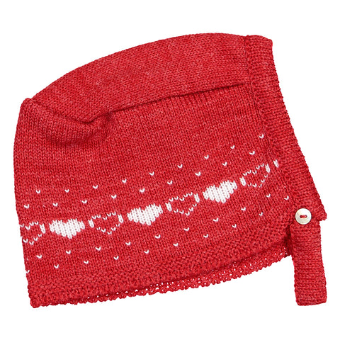 Mebi - Red Knitted Hat-Hat-Sweet Peas Kidswear
