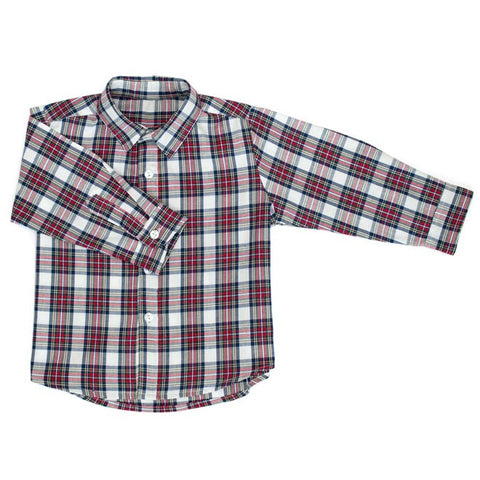 DOT - 'Jamie' Blue Plaid Shirt-Shirt-Sweet Peas Kidswear