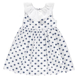 DOT - Summer 'Giulietta' Navy Anchor Dress-Dress-Sweet Peas Kidswear