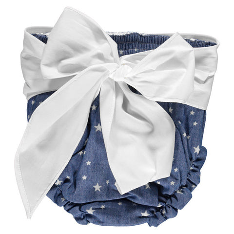 DOT - Denim Star Print Bow Pant-Pant-Sweet Peas Kidswear