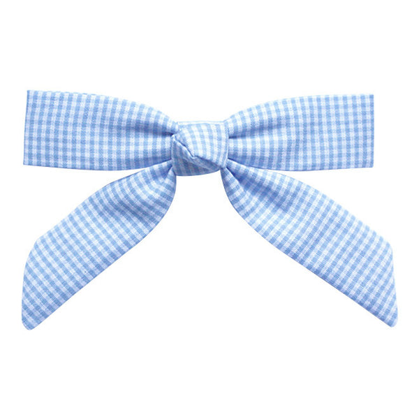 Sky Blue Gingham Princess hair clip-Princess Hair Clips-Sweet Peas Kidswear