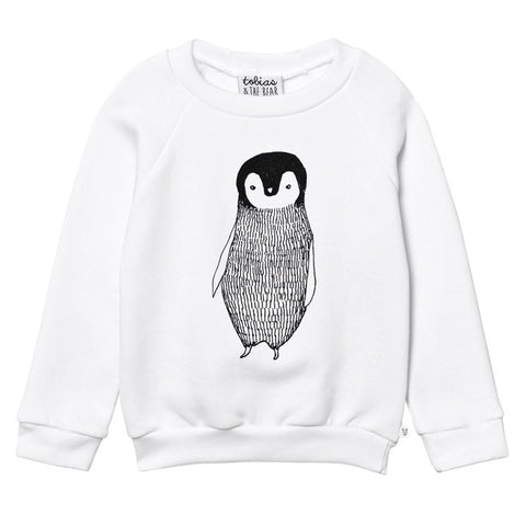 Tobias & The Bear - Percy the Penguin Sweatshirt-Jumper-Sweet Peas Kidswear