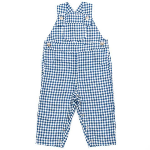 DOT - Porto Blue Check Dungarees-Dungaree-Sweet Peas Kidswear