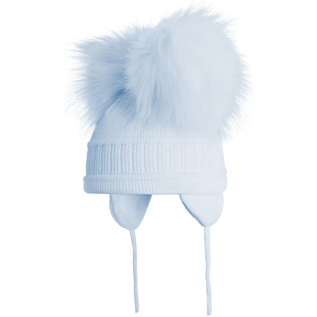 f6725b1bd2c Satila of Sweden - Baby Blue  Tindra  Faux Fur Double Pom-Pom Hat