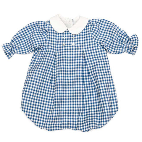 DOT - 'Winter Mango' Blue Gingham Romper-Romper-Sweet Peas Kidswear
