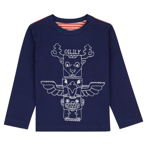 Oilily - Totem Pole Long Sleeved T Shirt-T-Shirt-Sweet Peas Kidswear