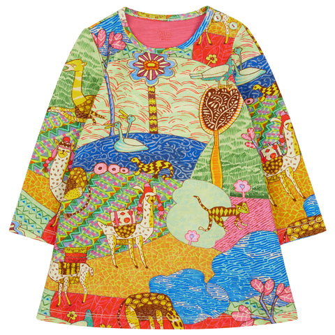 Oilily - Atlas Mountain Tastle Jersey Dress-Dress-Sweet Peas Kidswear