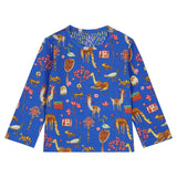 Oilily - Dark Blue Atlas Mountain Long Sleeved T Shirt-T-Shirt-Sweet Peas Kidswear
