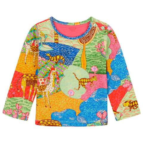 Oilily - Atlas Mountain Long Sleeved T Shirt-T-Shirt-Sweet Peas Kidswear